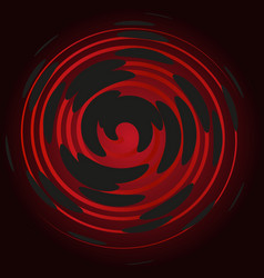 Bordeaux spiral on a black background abstraction vector