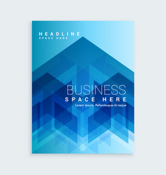 Business brochure template with blue abstract vector