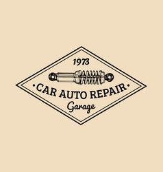 Car repair logo with shock absorber vector