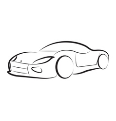 car silhouette logo sketch vector image