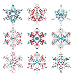 Christmas snowflakes vector image vector image