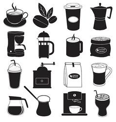 Coffee icons design vector