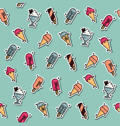 Colored ice-cream pattern vector