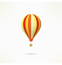 Colorful hot air balloon isolated on white vector image