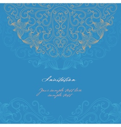 Elegant invitation card vector