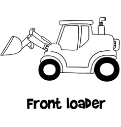 Front loader of art vector