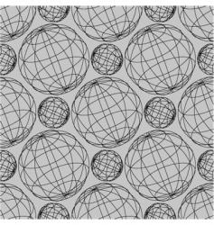 globe pattern vector image
