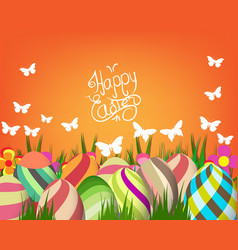 handwriting inscription happy easter template vector image vector image