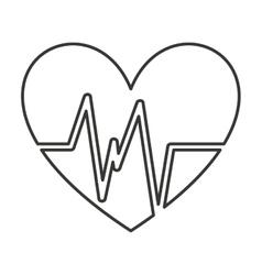 heart cardio pulse icon vector image vector image