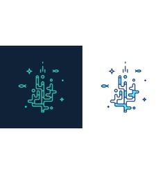 Linear style icon of a corals vector
