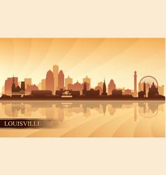 Louisville city skyline silhouette background vector