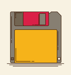 Magnetic floppy disc flat icon vector