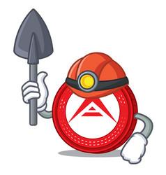Miner ark coin mascot cartoon vector