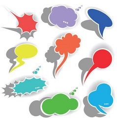 paper origami speech bubble dialog cloud vector il vector image vector image