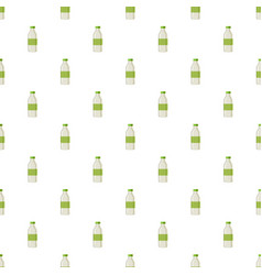 Plastic bottle for dairy foods pattern vector