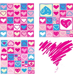Seamless valentine backgrounds vector image vector image