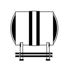 Taiko drum musical instrument icon image vector