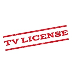 TV License Watermark Stamp vector image