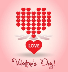 Valentine decoration hearts vector image