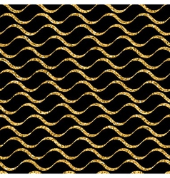 Waves geometric seamless pattern gold vector