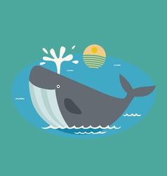 with whale vector image vector image
