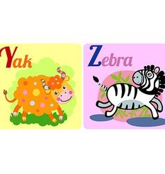 Yak and zebra vector