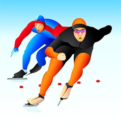 Speed skaters vector image