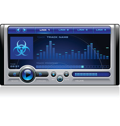 Mp3 media music player vector