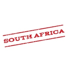 South africa watermark stamp vector