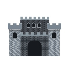 Medieval castle design vector
