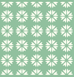 Abstract seamless pattern mosaic of blooms vector
