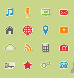 Social media simply icons vector