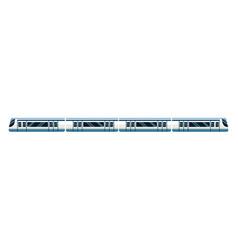 High speed train transport passenger modern vector
