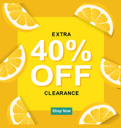 Sale poster with lemon vector