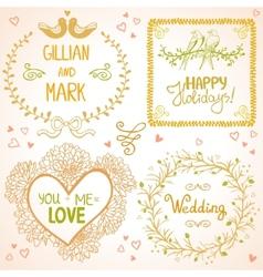 Design wedding vector