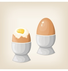 Breakfast boiled eggs vector