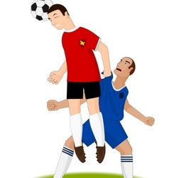 Football players in the game vector image