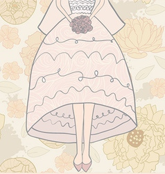 Brideandflowerpat vector image