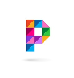 Letter p mosaic logo icon design template elements vector