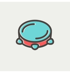 Tambourine thin line icon vector