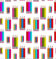 Seamless pattern with colorful pencils vector