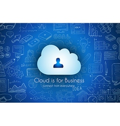 Cloud computing concept with infographics sketch vector