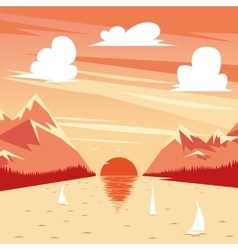 Summer sunset vector
