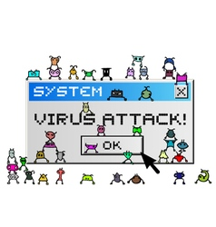 Virus attack message vector