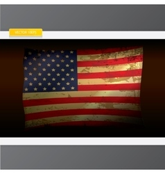 The united states of america grunge flag vector