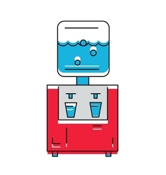 Water cooler icon line style vector