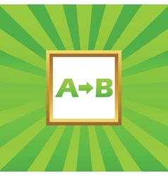 A to b picture icon vector