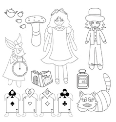 Alice in Wonderland vector image
