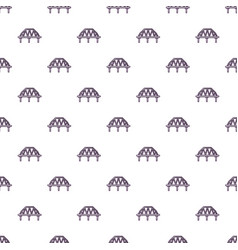 Arched train bridge pattern seamless vector