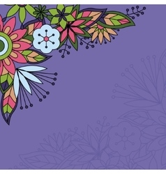 Background with flowers in the corner vector